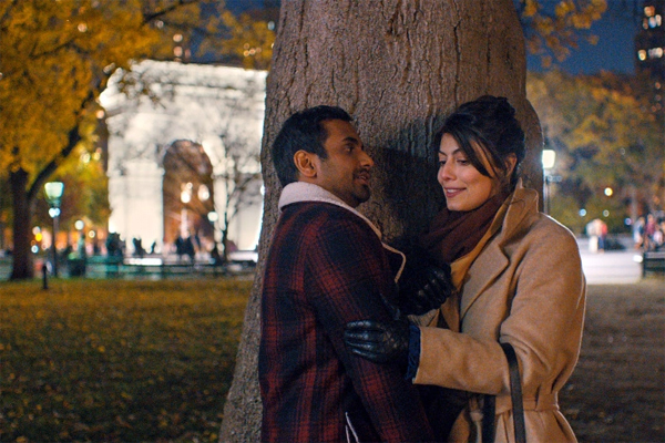 screen cap of Aziz Ansari as Dev and Alessandra Mastronardi as Francesca in Season Two of Master of None