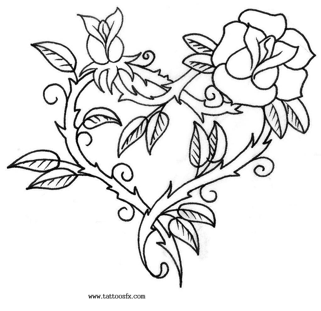 free rose tattoos designs %2810%29
