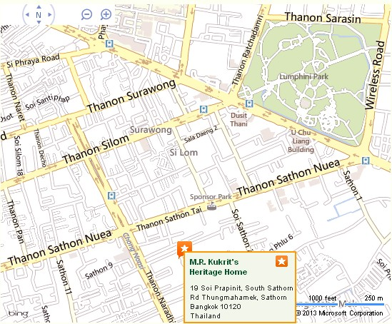 M.R. Kukrit's Heritage Home Bangkok Location Map,Location Map of M.R. Kukrit's Heritage Home Bangkok,M.R. Kukrit's Heritage Home Bangkok Accommodation Destinations Attractions Hotels Map Photos Pictures
