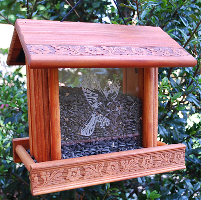 Enter the Redwood Bird Feeder with Etched Glass Giveaway. Ends 4/29
