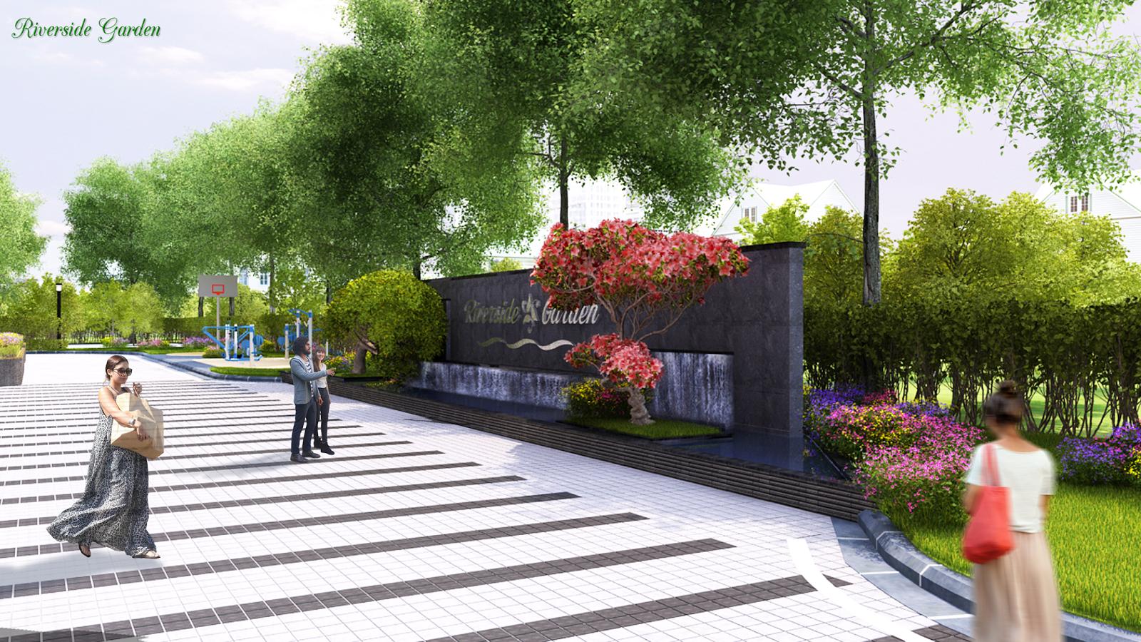 Khuôn viên xung quanh dự án Riverside Garden