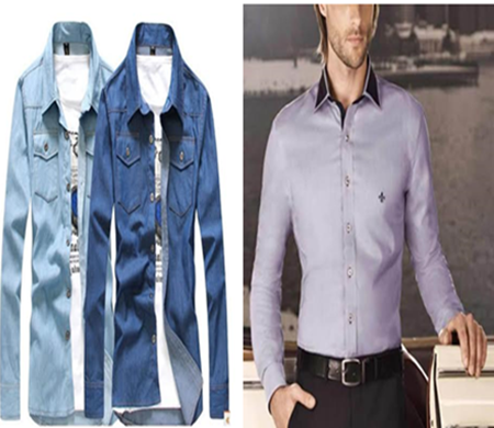 Jaquetas e blusa social manga comprida