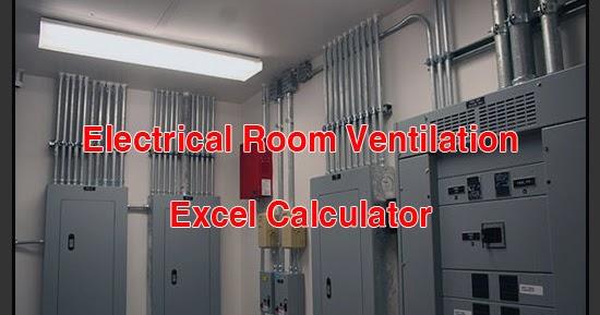 Electrical Room And Transformer Ventilation Excel Calculator