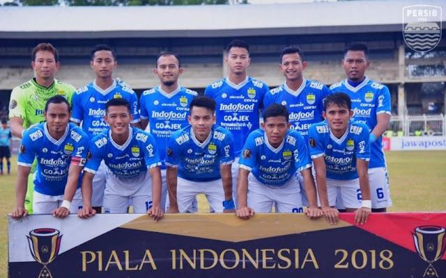 Susunan Pemain  Persib Bandung Lawan PSKC Cimahi - Piala Indonesia 2018