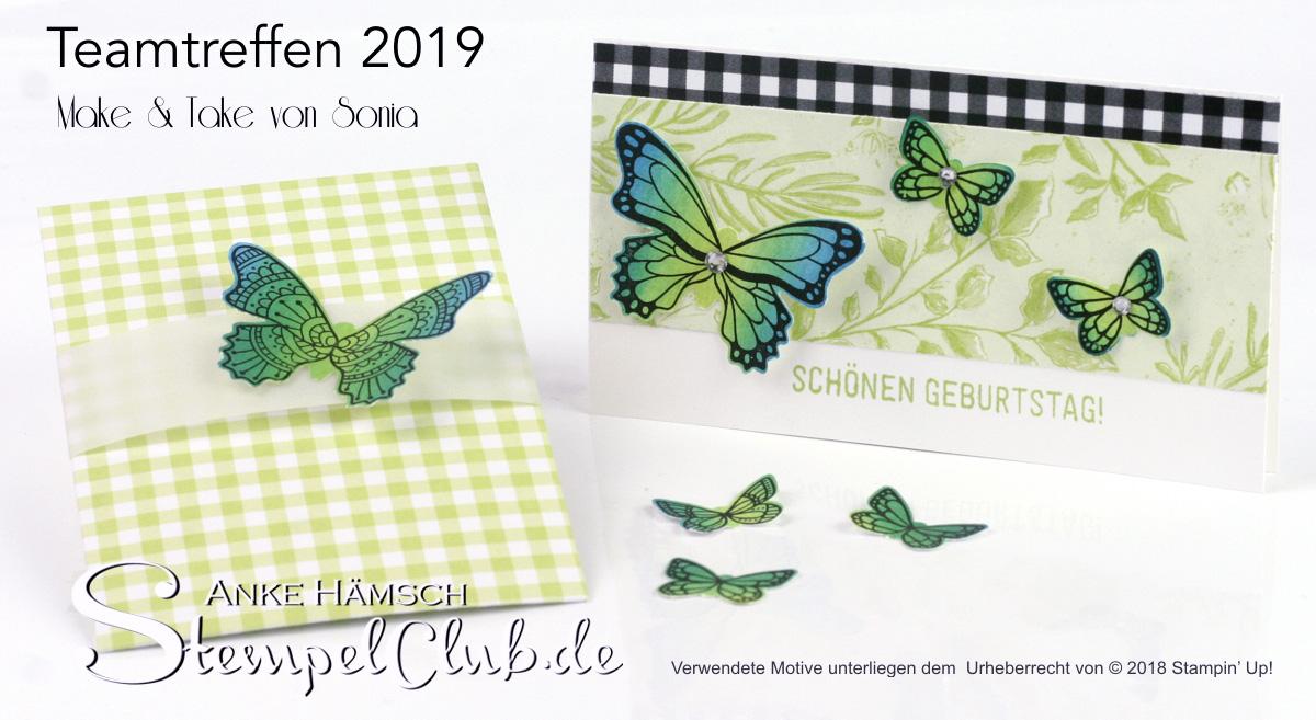 Make & Take Stempeltechnik Schmetterling