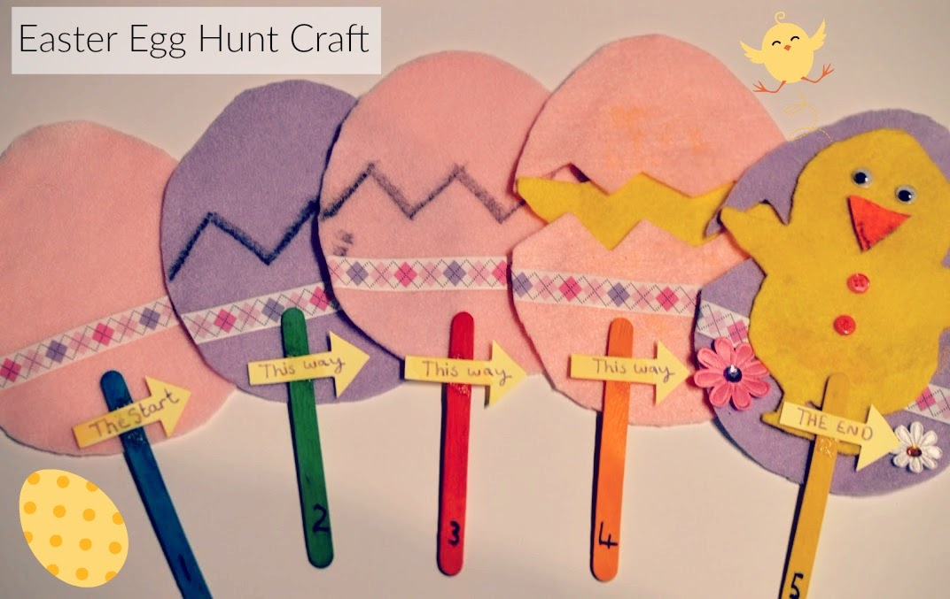 Easter Craft Create an Easter Egg  and Chick Hunt Trail