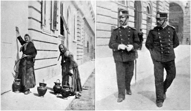 Water from the public founts - Two Policemen (New Uniform), Livorno