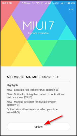 update finally