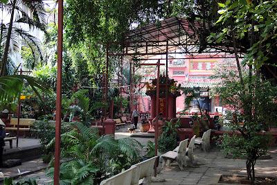 Patio outside the Jade Emperor Pagoda