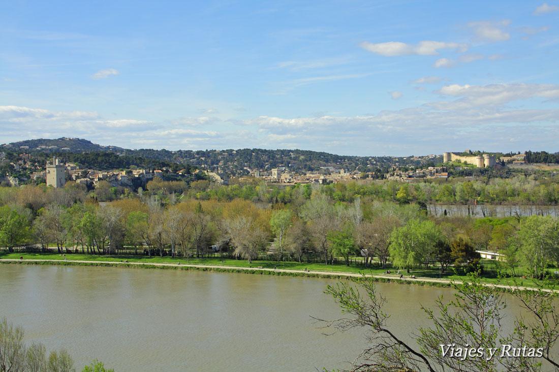 Vista de Villeneuve lez Avignon desde Avignon
