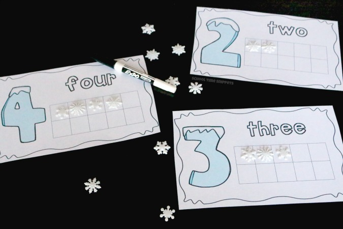 winter theme printable ten frames