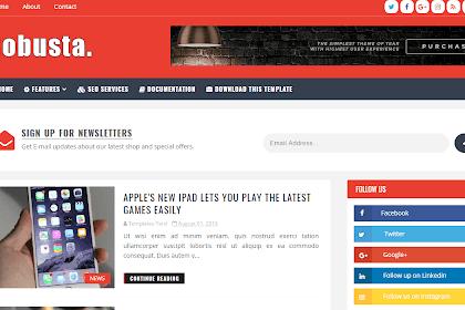 Free Download Robusta Weblog Blogger Template