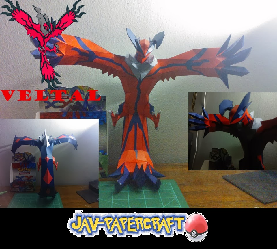 Pokemon Yveltal Papercraft