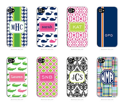 Monogrammed and Personalized iPhone 8 & 8 Plus Cell Phone Cases from Boatman Geller