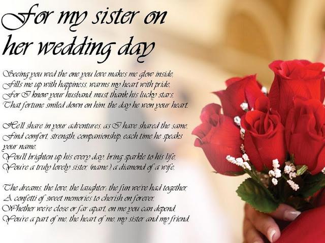 Speech For Sister's Wedding