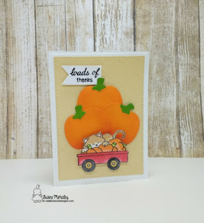 Loads of Thanks a card by Diane Morales | Wagon Wishes Stamp Set by Newtons Nook Designs
