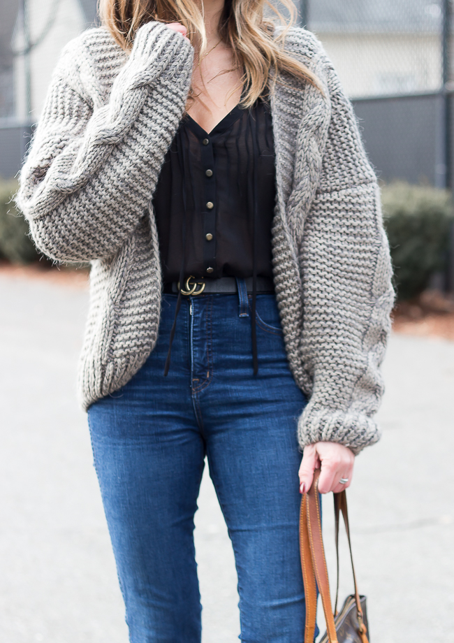 Chunky Cardigan Sweater