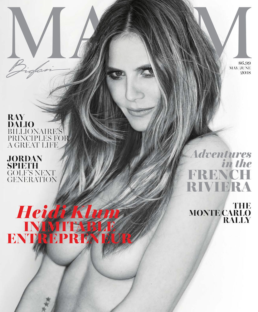 Heidi Klum goes topless for Maxim May/June 2018
