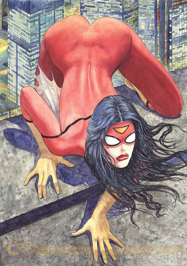 The new issue of Spider-Woman creates controversy with it's variant cover.