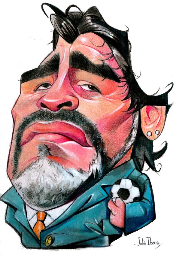 """""""Diego Armando Maradona"""" por Julio Ibarra"""