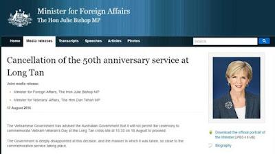 Việt Nam có hủy lễ tưởng niệm trận chiến Long Tân của Úc cũng là việc làm đúng đắn