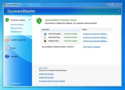تحميل برنامج SpywareBlaster 2013 مجانا لازالة ملفات التجسس