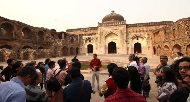 Akbar book author Shazi Zaman at khairal manazil mosque,New Delhi