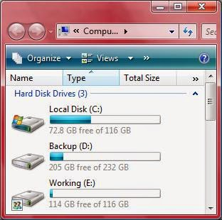 My Computer Partitions - بارتشن