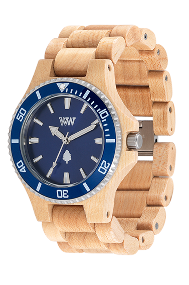 b318792244a Nova linha de relógios que une a sofisticação da madeira com metal  reciclado de alta qualidade