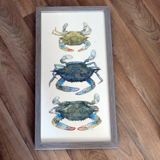 http://www.ebay.com/itm/Framed-Art-Print-10x19-CRAB-STACK-wood-frame-grey-watercolor-by-D-Scheirer-/332007967656?hash=item4d4d378ba8:g:5q8AAOSwB09YB~8A