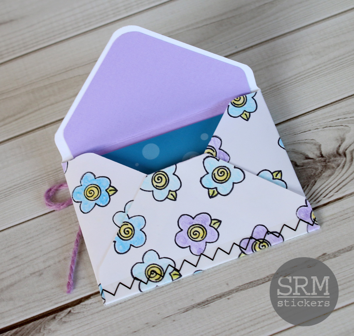 Srm stickers mothers day gift card holder by samantha the best part about coloring your envelope yourself is that you can customize the colors to the recipient solutioingenieria Image collections