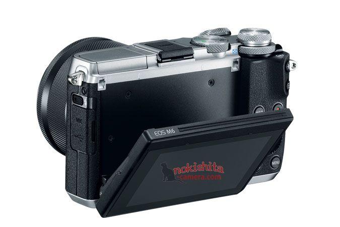 Canon EOS M6, вид сзади