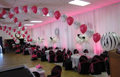 Party People Event Decorating Company: Zebra Sweet 16 ...