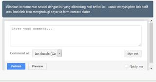 Cara mudah merubah tampilan kotak komentar blog