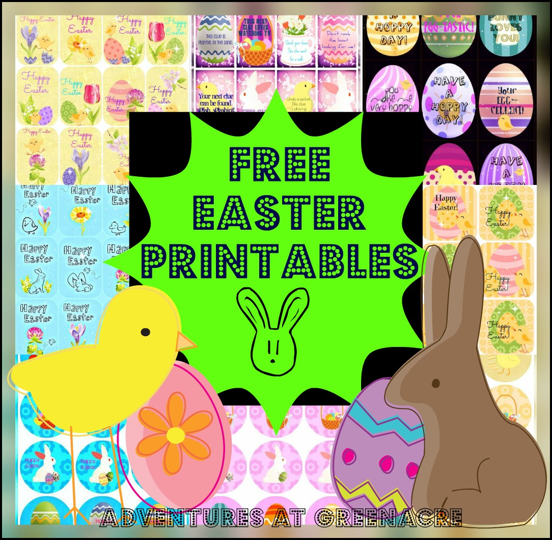 Adventures At Greenacre Free Easter Printables