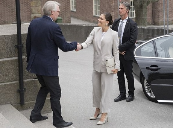 Crown Princess Victoria attended the meeting of Sustainable Development Goals (SDGs) - Keystone Dialogue 2 at the Royal Swedish Academy