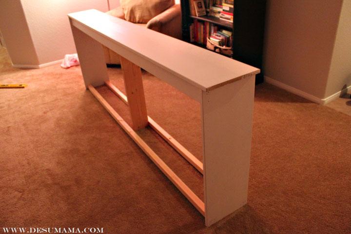 DIY EXTRA Long Sofa Table De Su Mama