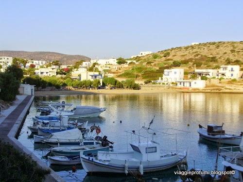 Il porto di Agios Georgios a Iraklia