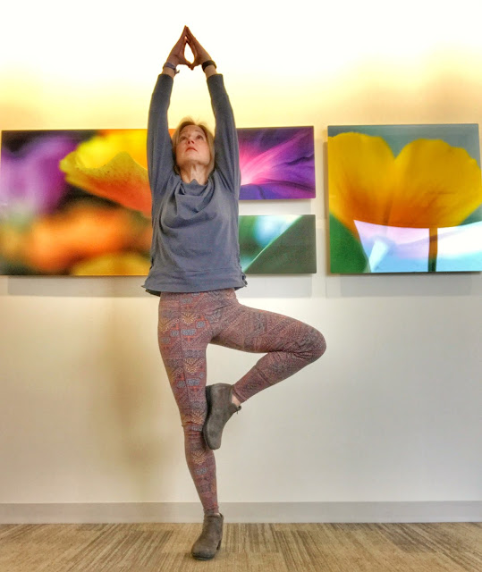 Focus inward while doing yoga; be mindful; balance will come.