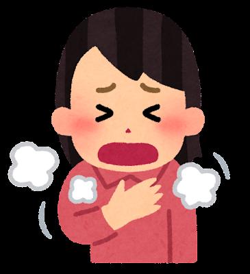 過呼吸のイラスト