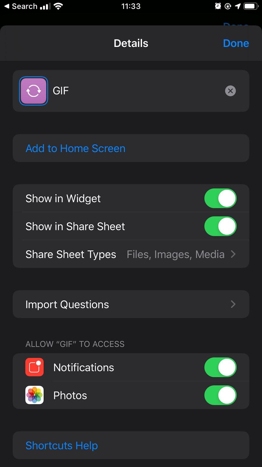 Come convertire video e foto in GIF con Shortcuts