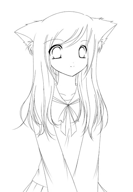 Anime Girl Coloring Pages Printable Coloring Pages