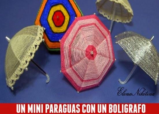 Como hacer un Mini-Paraguas con un Boligrafo