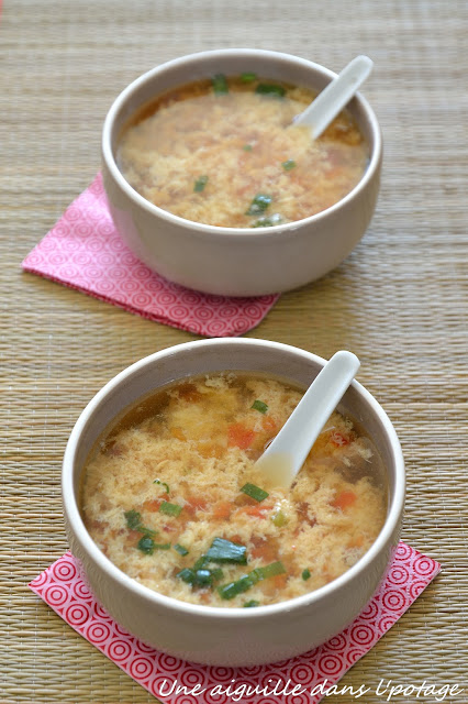 soupe chinoise Ken Hom tomate oeuf bouillon volaille