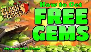 cara mendapatkan gems gratis dari Coc