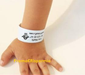 Logo Vinci 10 braccialetti anti smarrimento per bambini