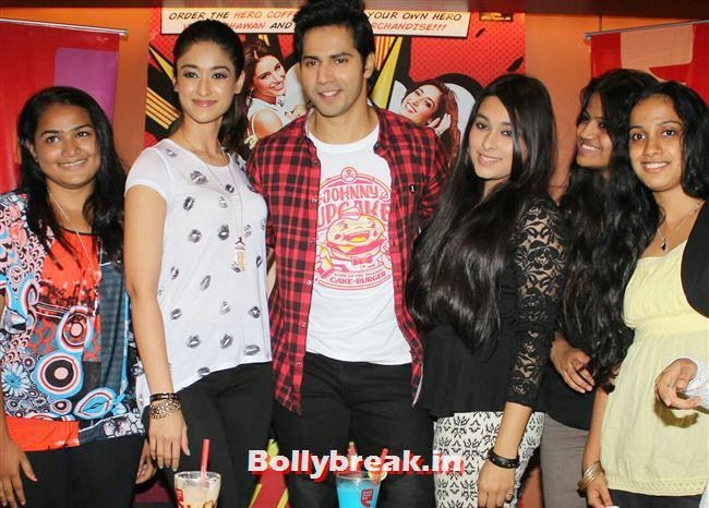 Ileana D'Cruz and Varun Dhawan, Ileana D'Cruz and Varun Dhawan promotes 'Main Tera Hero' at Cafe Coffee Day