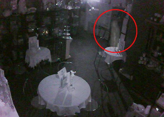 Ghost Caught on Cafe CCTV in Scotland