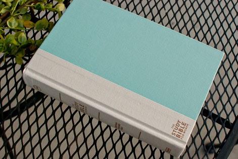Turquoise Aqua Blue Linen Hardcover CSB Study Bible