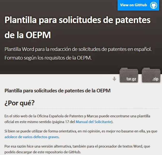 As I Promised Here You Are The Word Template For Writing Patent Applications In Spanish New Format Follows And Trademark Office OEPM